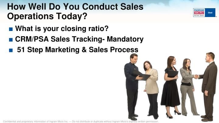 How Well Do You Conduct Sales Operations Today?