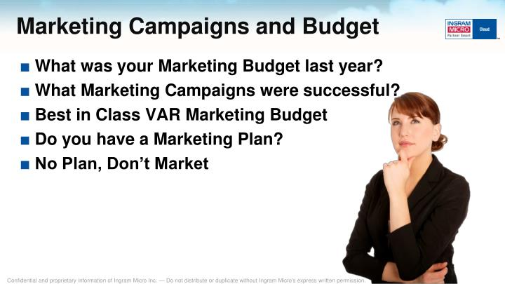 Marketing Campaigns and Budget