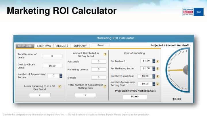 Marketing ROI Calculator
