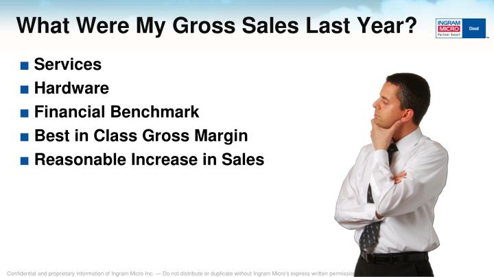 What Were My Gross Sales Last Year?