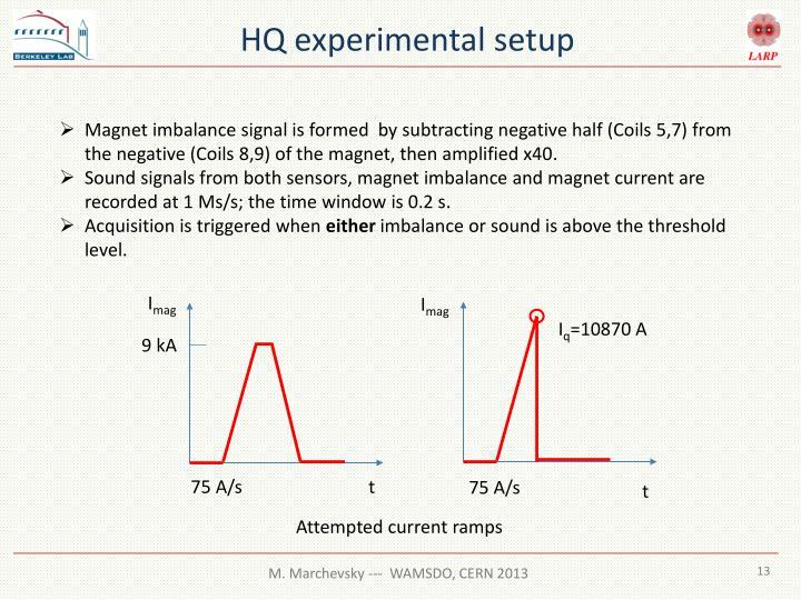 HQ experimental setup