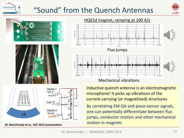 """Sound"" from the Quench Antennas"