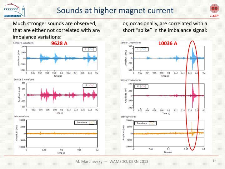 Sounds at higher magnet current