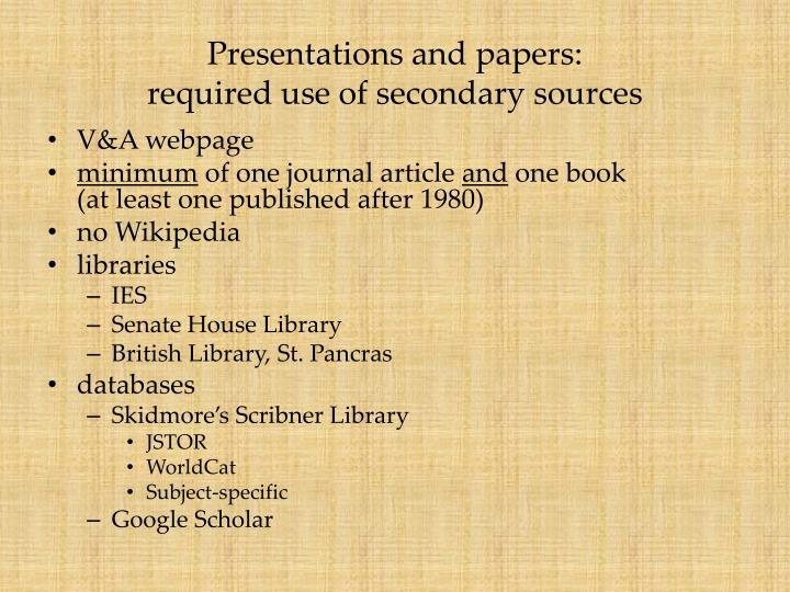 secondary research papers