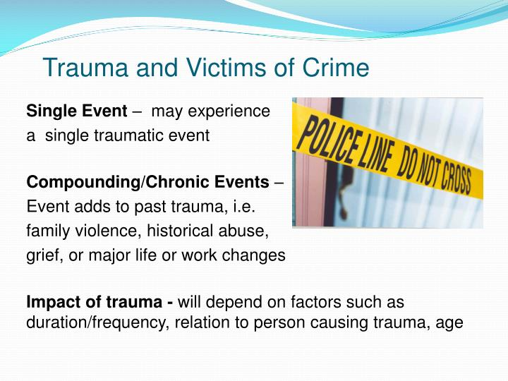 Trauma and victims of crime