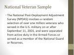 national veteran sample
