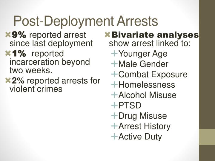 Post-Deployment Arrests