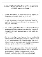 measuring cosmic ray flux with a trigger and camac readout page 1