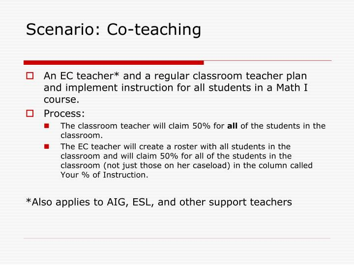Scenario: Co-teaching