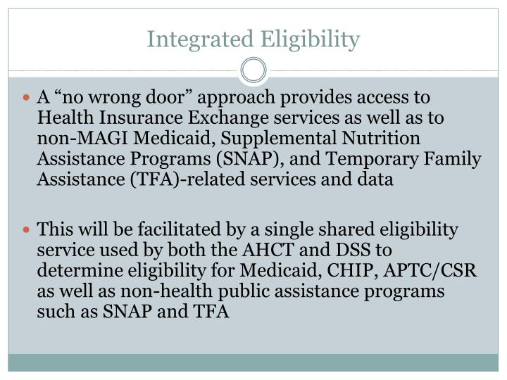 Integrated eligibility1