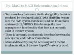 pre magi to magi redetermination process5