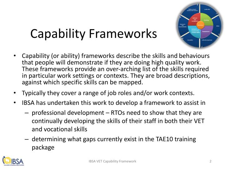 Capability Frameworks