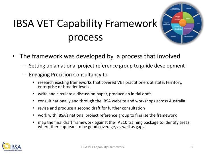 IBSA VET Capability Framework
