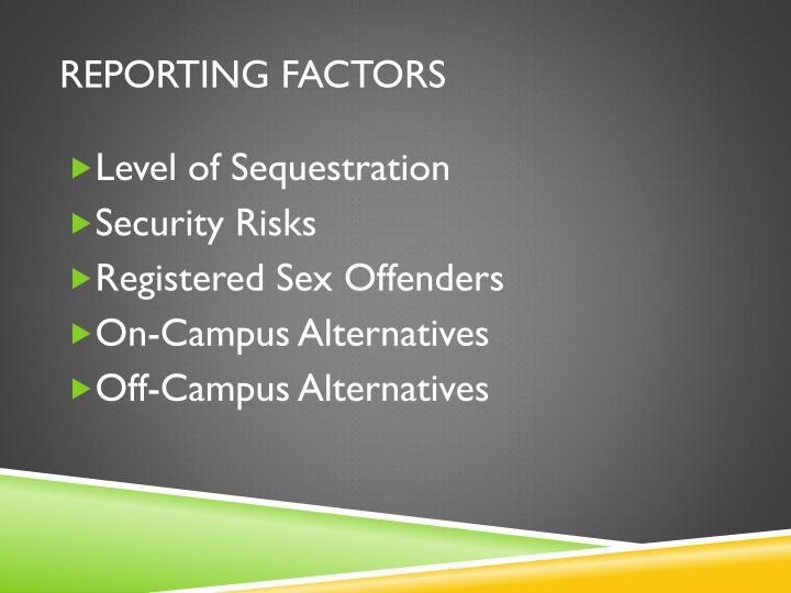 REPORTING FACTORS
