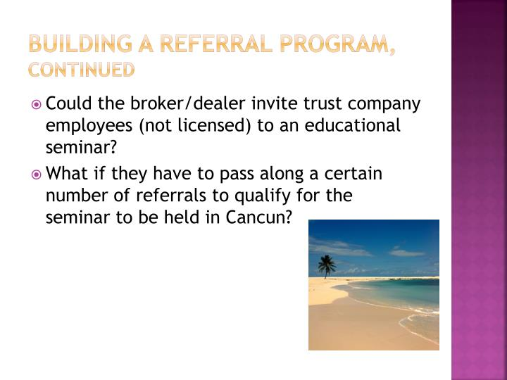 Building a referral program,