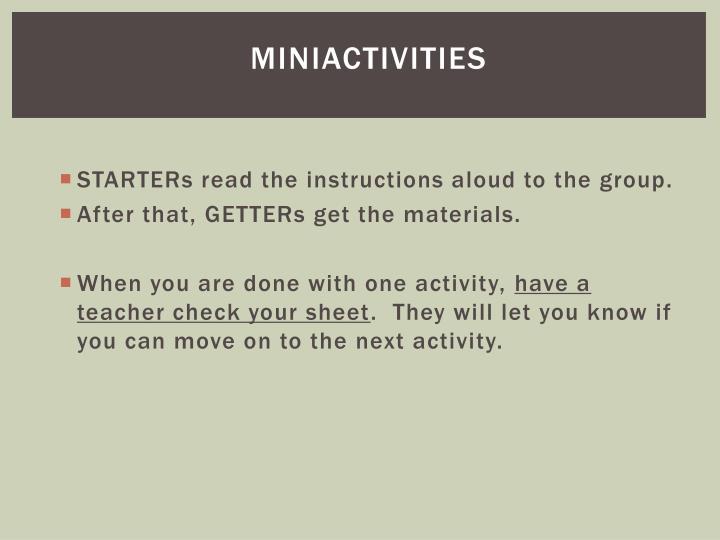 MiniActivities