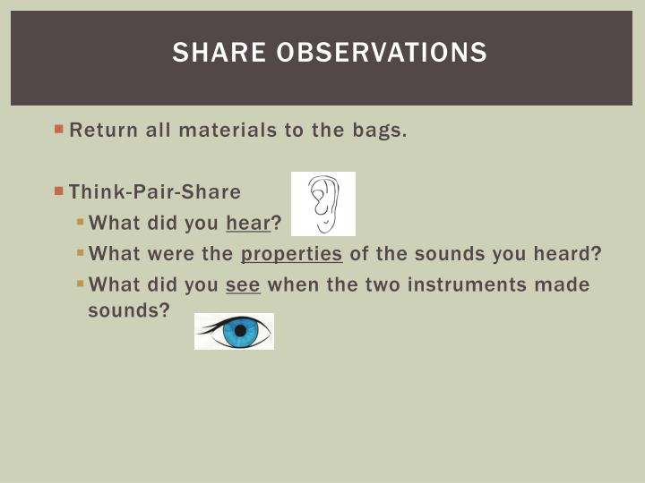 Share Observations