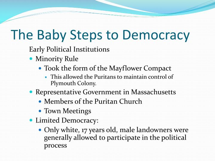 The baby steps to democracy