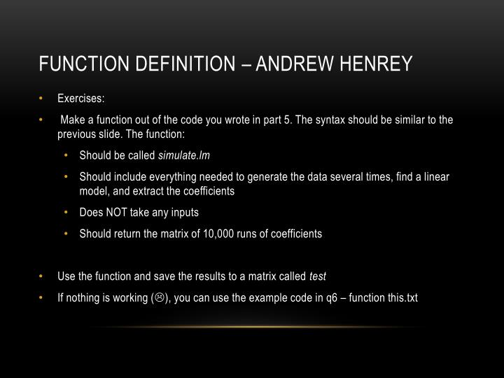 Function Definition – Andrew Henrey
