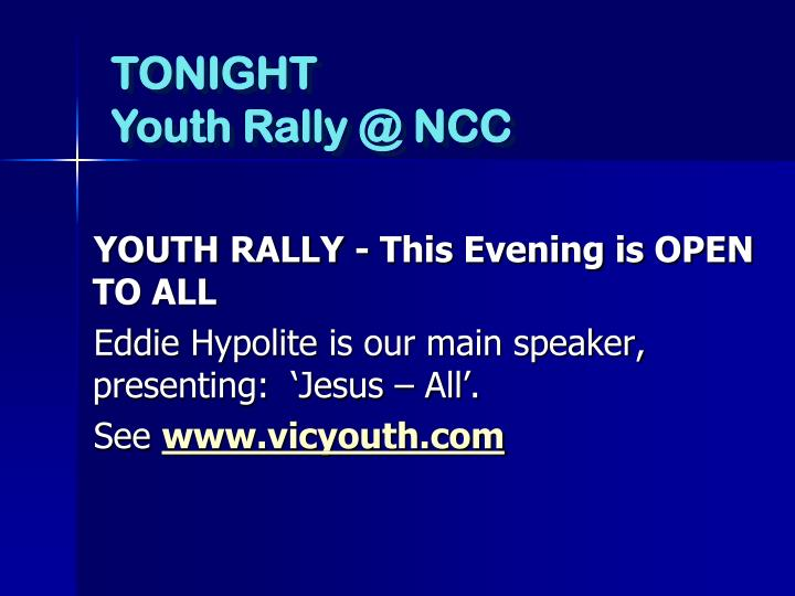 YOUTH RALLY -