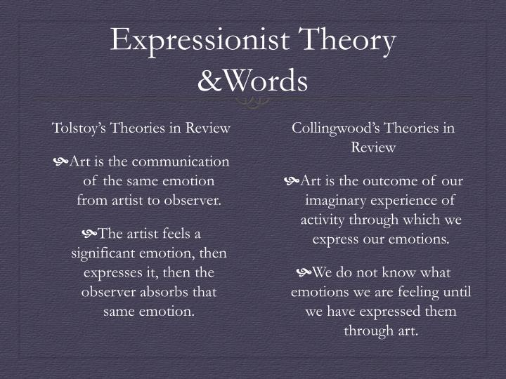 Expressionist Theory &Words