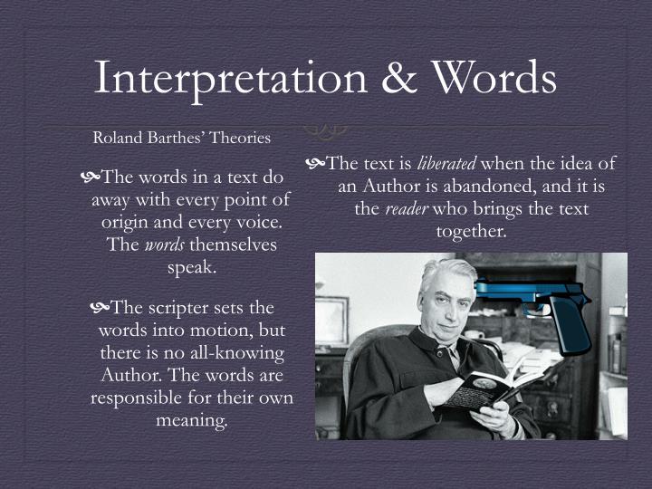 Interpretation & Words
