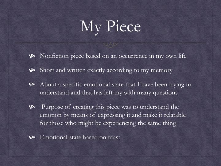 My Piece