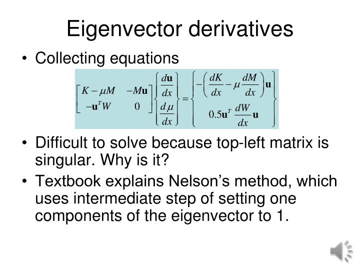 Eigenvector derivatives