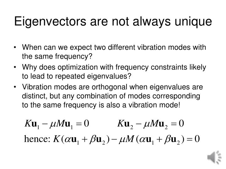 Eigenvectors are not always unique