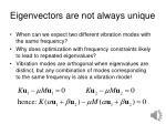 eigenvectors are not always unique