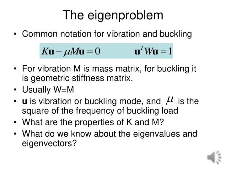 The eigenproblem