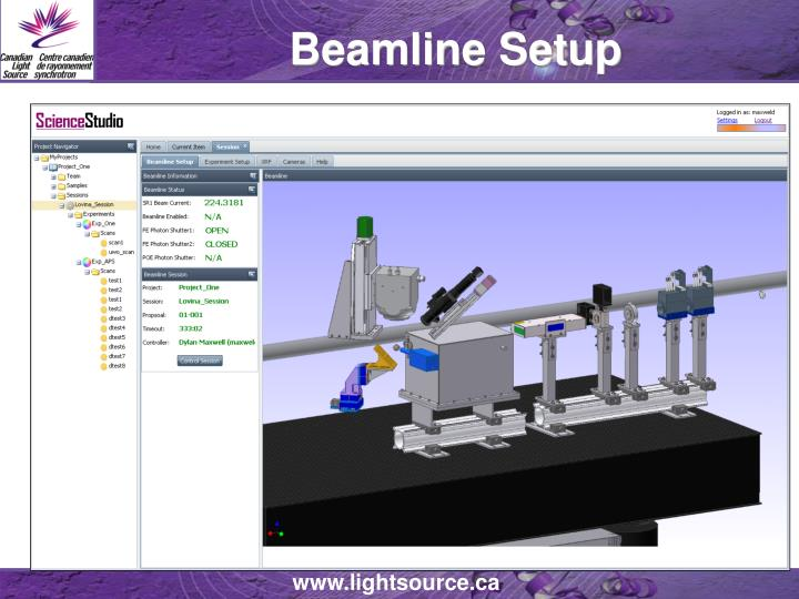 Beamline Setup