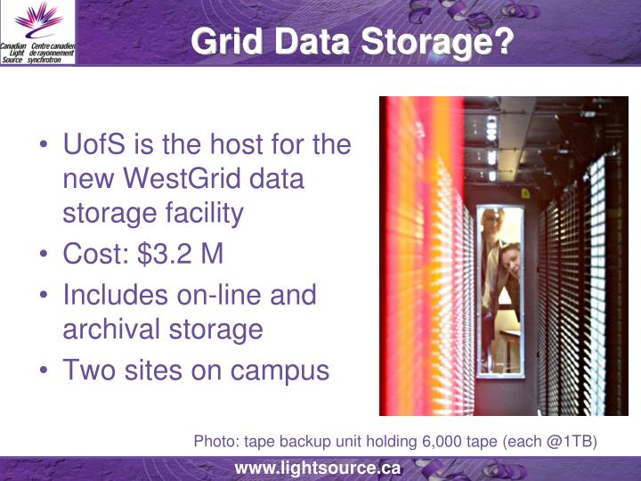 Grid Data Storage?