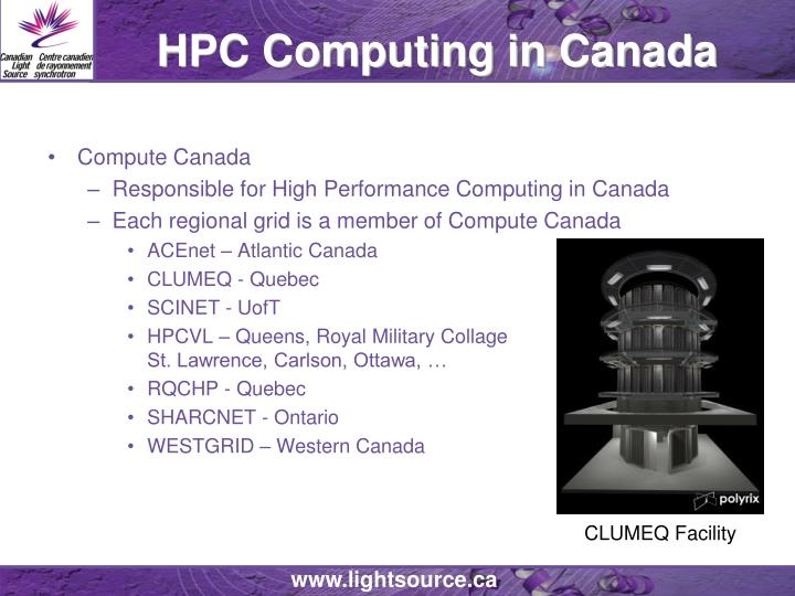 HPC Computing in Canada