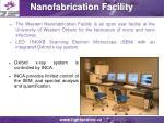 nanofabrication facility