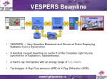 vespers beamline
