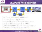 vespers web interface