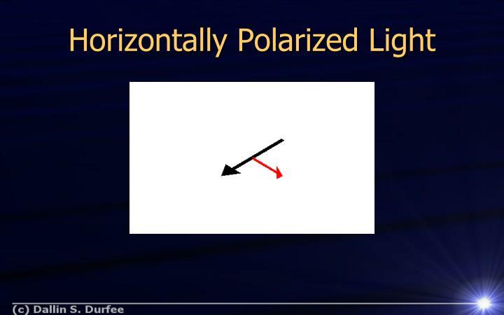 Horizontally Polarized Light