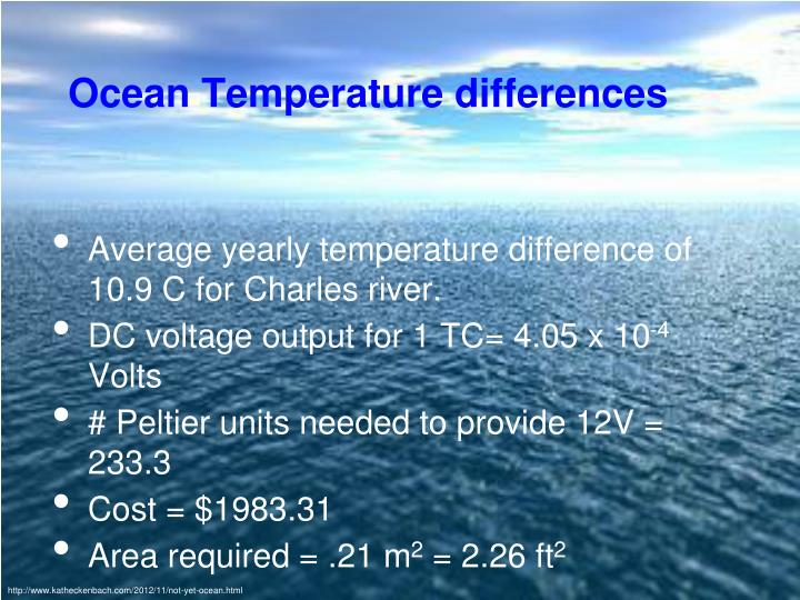 Ocean Temperature differences