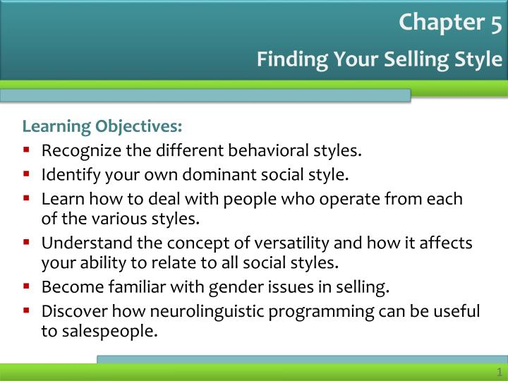 Finding your selling style