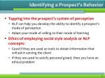 identifying a prospect s behavior