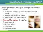 neurolinguistic programming nlp