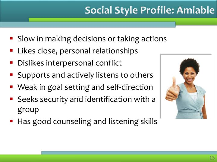 Social Style Profile: Amiable