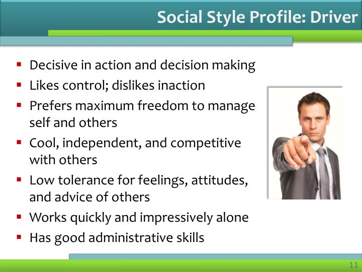 Social Style Profile: Driver