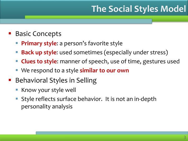 The Social Styles Model