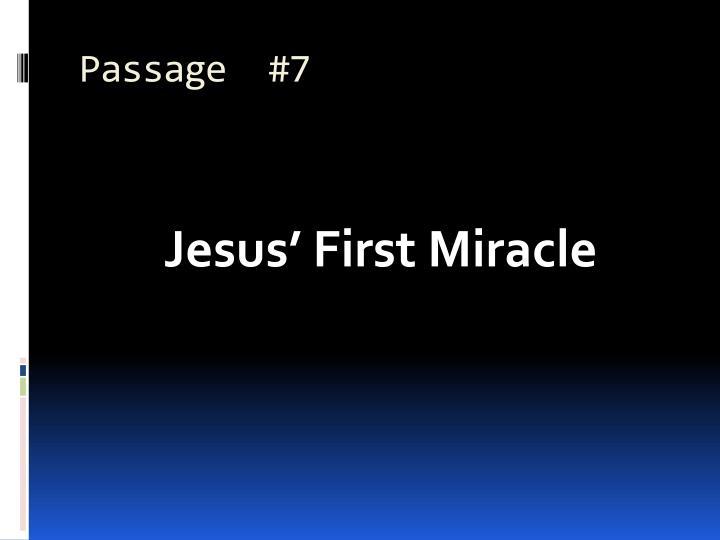 Passage  #7