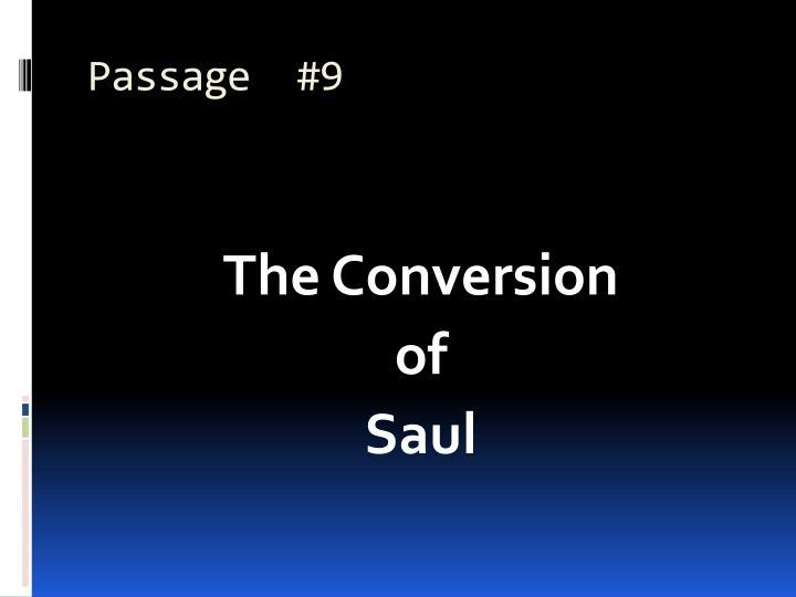 Passage  #9