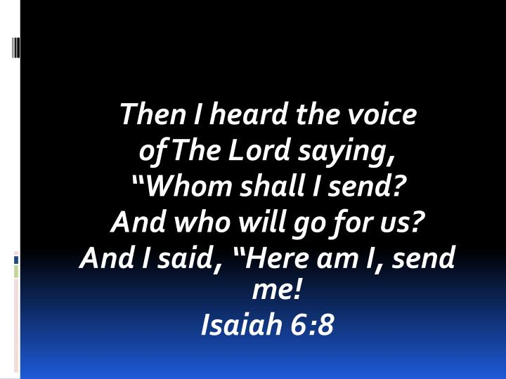 Then I heard the voice