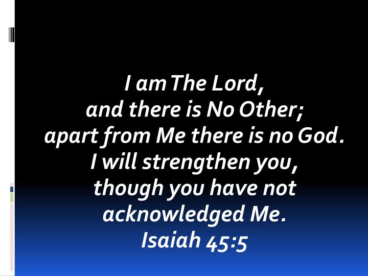 I am The Lord,