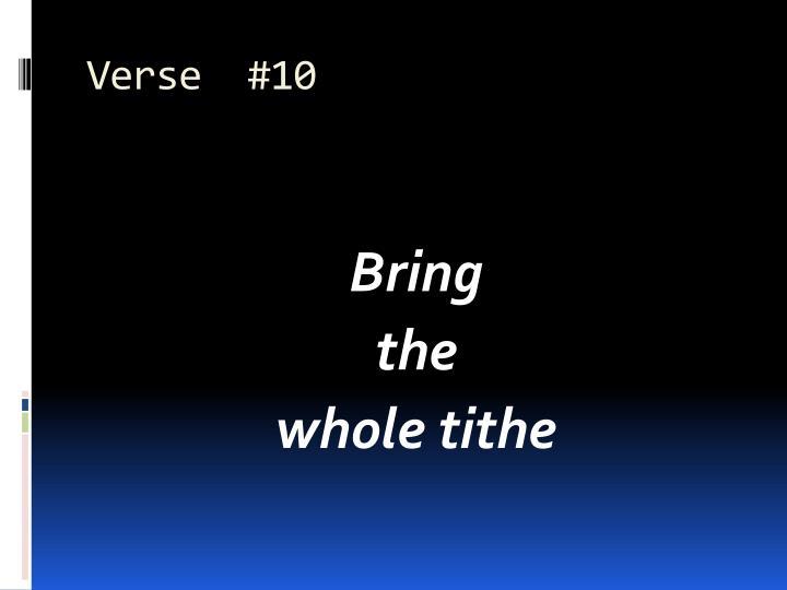 Verse  #10